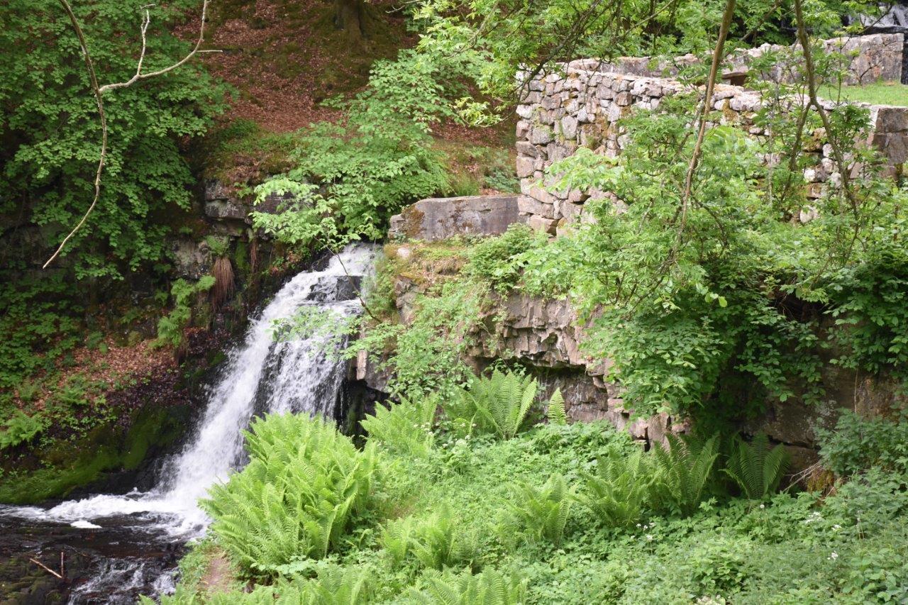 Rörums södra å och vattenfallet vid Forsemölla.